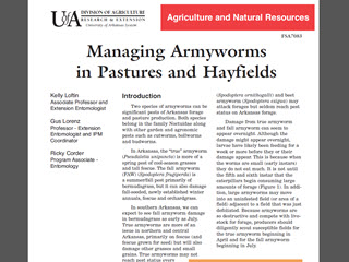 Managing Armyworms in Pastures and Hayfields